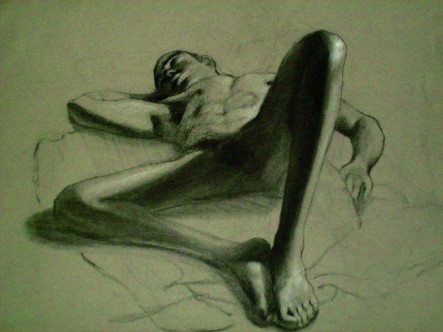Nude Male Lounging