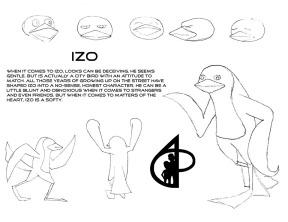 Izo character design